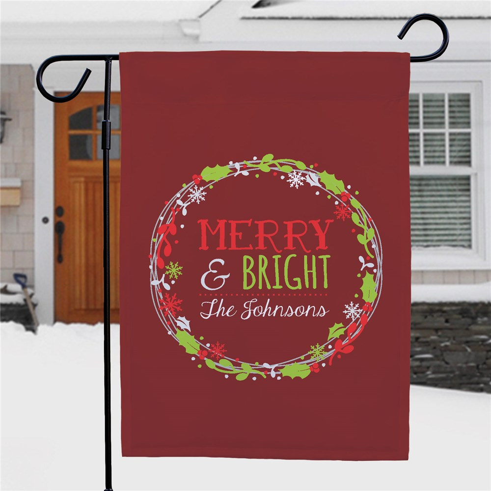 Merry Christmas Garden Flag | Personalized Christmas Flags