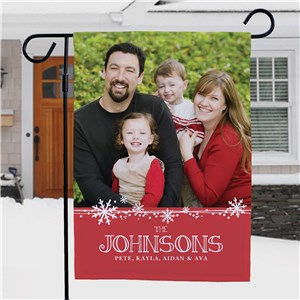 Personalized Christmas Photo Garden Flag | Personalized Garden Flags