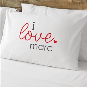 Personalized I Love You Pillow Case Set | Valentine Pillow Cases