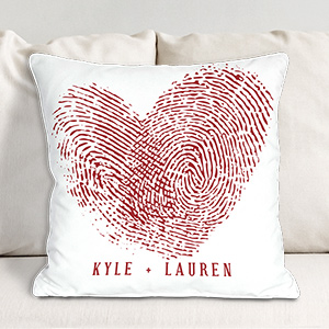 Couples Fingerprints Throw Pillow 83082133X