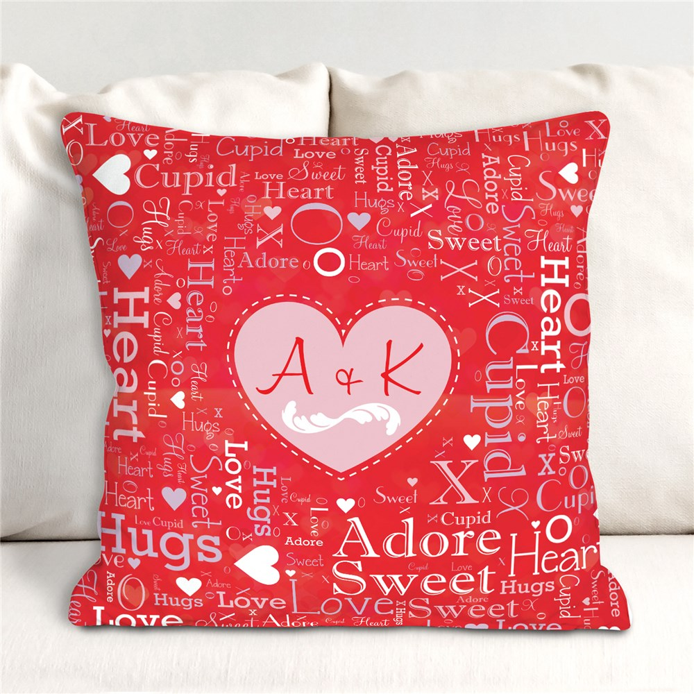 Family Word Art Canvas | Valentine's Love Personalized Pillows