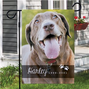 Pet Photo Memorial Garden Flag | Personalized Garden Flags