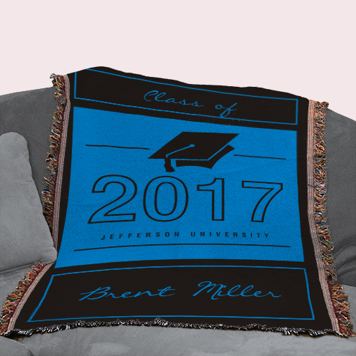 Graduation Personalized Throw Blanket | Personalized Graduation Gifts