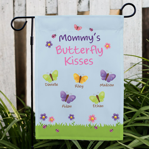Butterfly Personalized Garden Flag | Custom Gifts For Mom