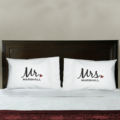 Personalized Loving Couple Word-Art Pillowcase | Personalized Valentine's Day Gifts