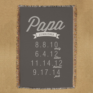 Personalized Dad Established Throw | Father's Day Gifts