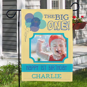 First Birthday Garden Flag 83095602X