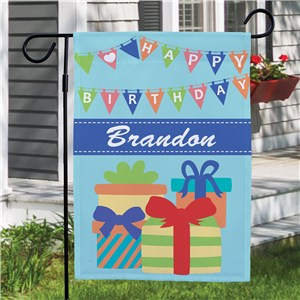 Birthday Boy Garden Flag | Personalized Garden Flags