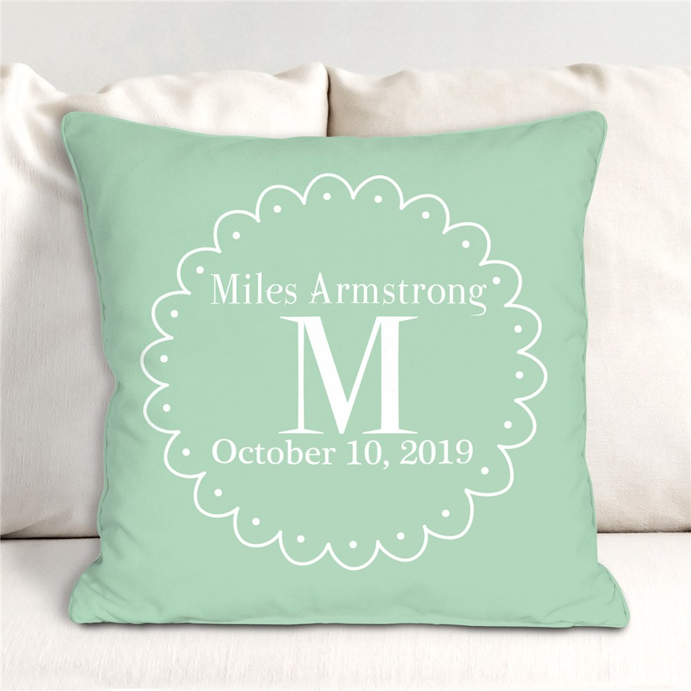 Personalized Baby Throw Pillow | Personalized Baby Pillow
