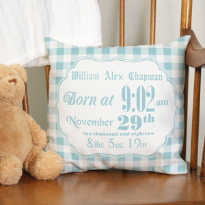 Birth Announcement Throw Pillow | Personalized Throw Pillows