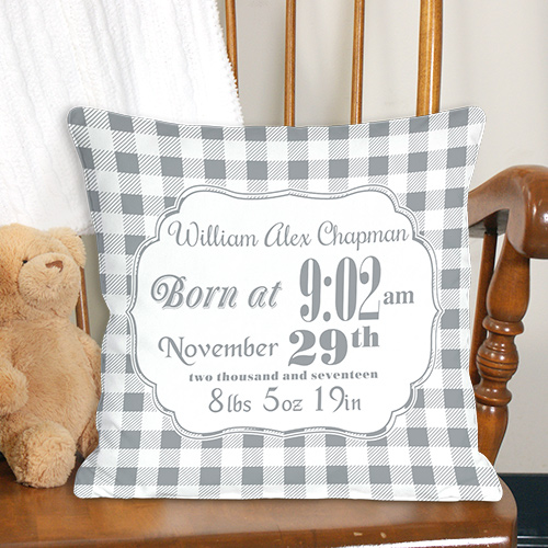 Birth Announcement Throw Pillow 83095913X