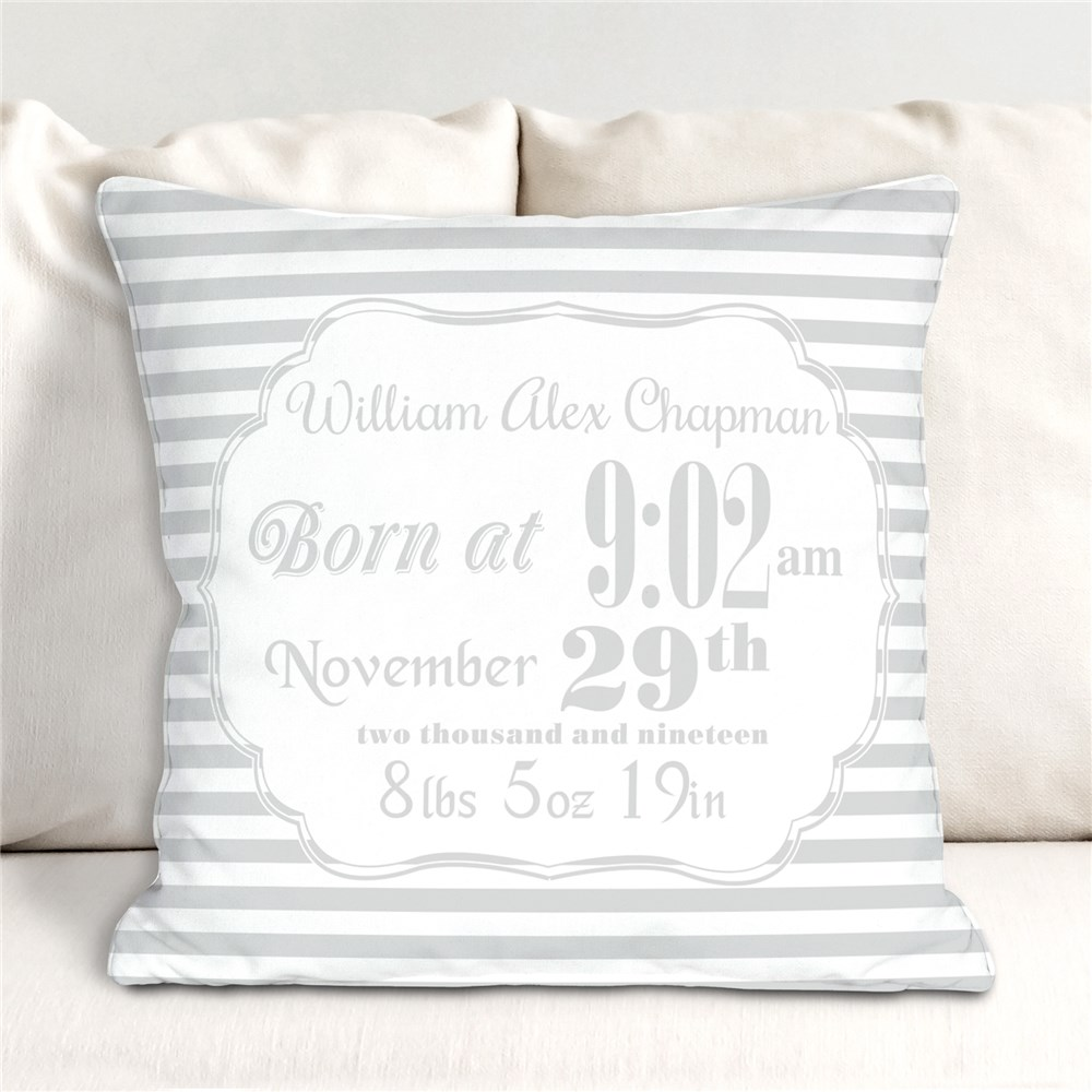 Personalized Birth Announcement Throw Pillow | Personalized Baby Gifts