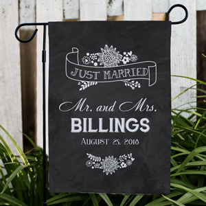 Personalized Just Married Garden Flag | Personalized Wedding Gifts