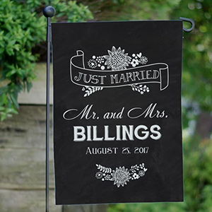 Personalized Just Married Garden Flag 83095932X