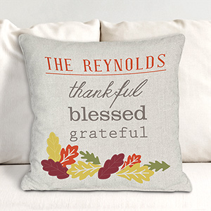 Personalized Thankful Throw Pillow 83096353X