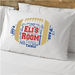 Football Word-Art Pillowcase | Personalized Word Art