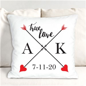 Personalized True Love Throw Pillow | Personalized Valentine Throw Pillows