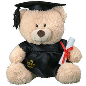 Personalalized Number One Grad Teddy Bear | Graduation Bear