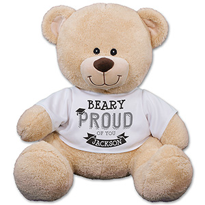 Personalized Beary Proud Graduation Teddy Bear