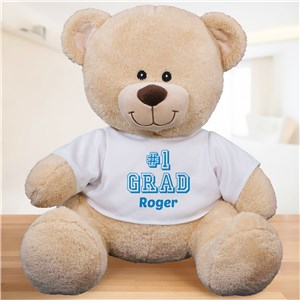 #1 Grad Personalized Teddy Bear | Personalized Graduation Gifts