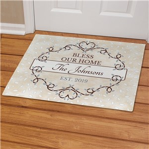 Personalized Bless Our Home Doormat | Personalized Doormats