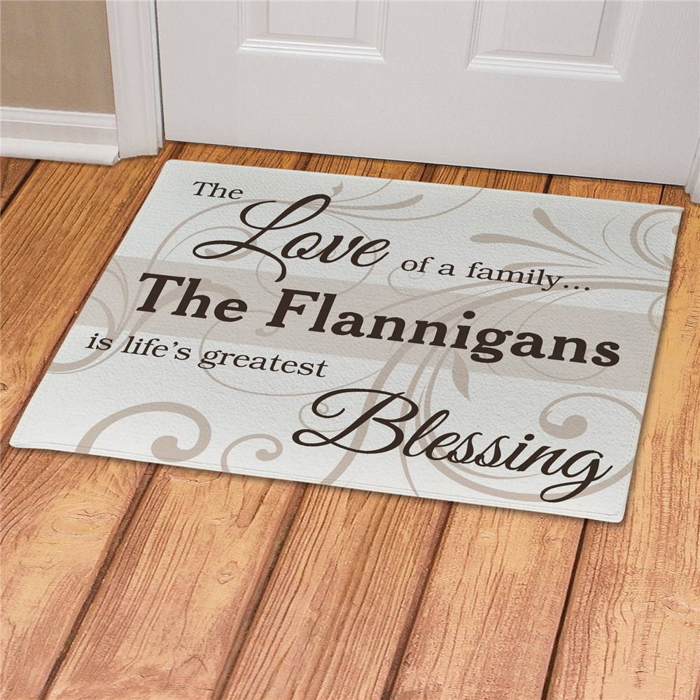 Family Blessing Personalized Doormat | Best Housewarming Gifts