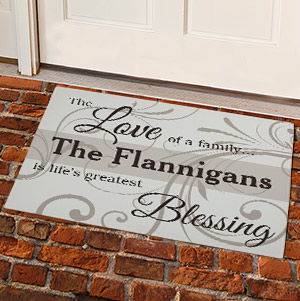 Family Blessing Personalized Doormat