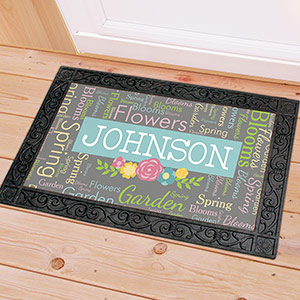 Personalized Spring Word-Art Doormat