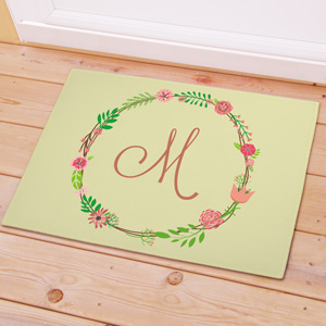Personalized Single Initial Doormat | Monogram Doormat