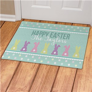 Personalized Easter Decorations | Easter Doormat for Family