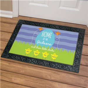 Personalized Doormat | Spring Chick Doormat for Family