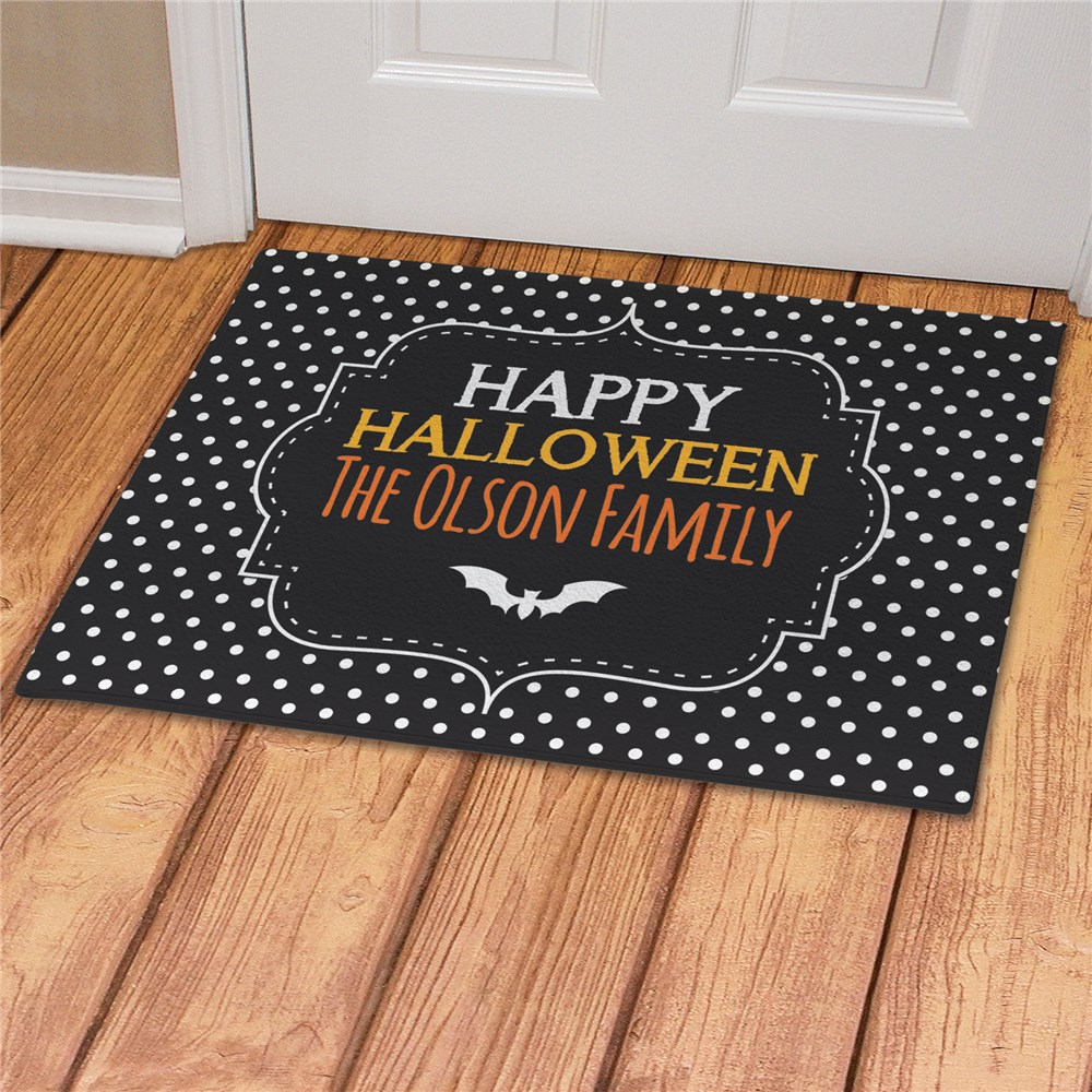 Personalized Happy Halloween Family Doormat | Personalized Doormat
