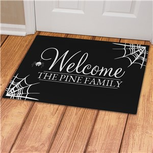 Personalized Spider Web Welcome Doormat | Personalized Doormat