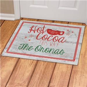 Personalized Hot Cocoa This Way Doormat | Personalized Doormats