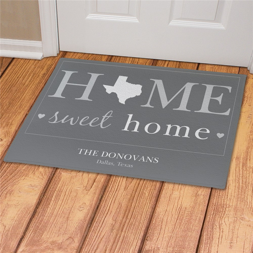 Home Sweet Home Doormat | Personalized Welcome Mat