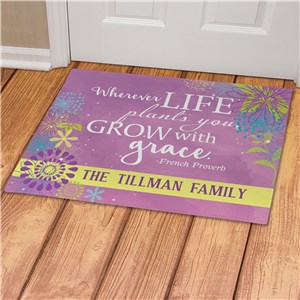 Spring Family Doormat | Personalized Doormats