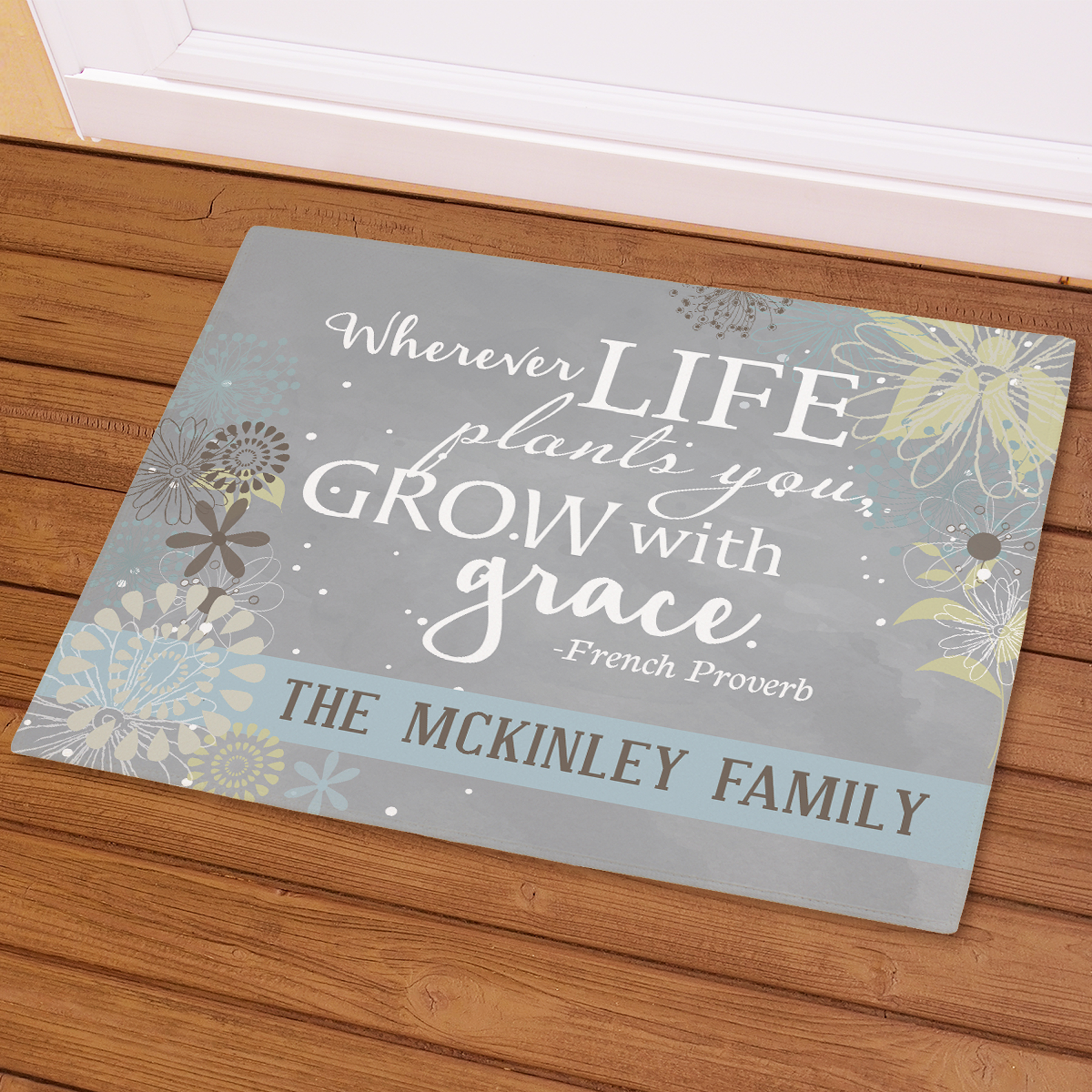Personalized Grow with Grace Doormat | Personalized Doormats