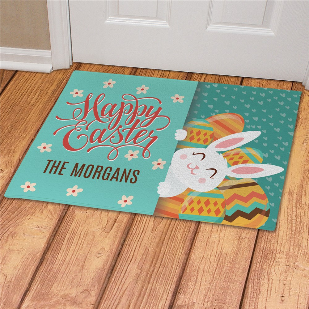 Personalized Easter Welcome Mat | Easter Family Doormat
