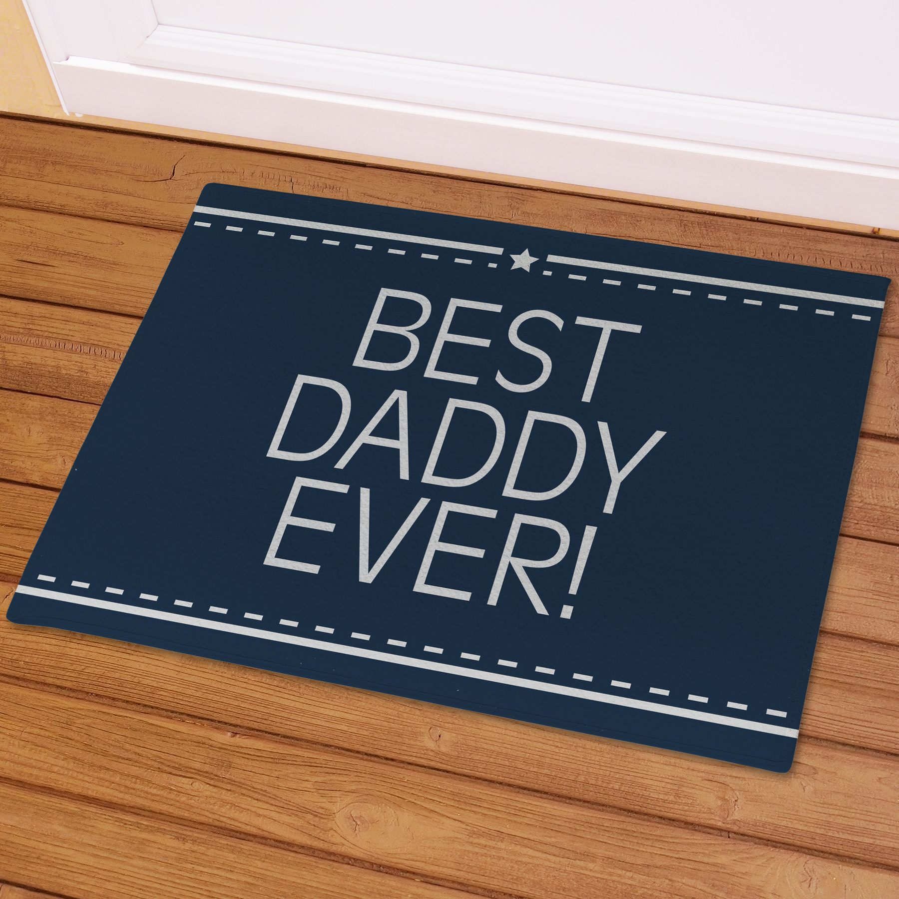 Best Daddy Ever Personalized Doormat | Unique Father's Day Gifts