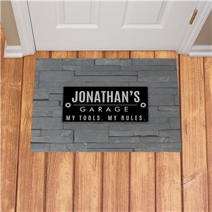 Personalized My Tools My Rules Doormat 831128347X