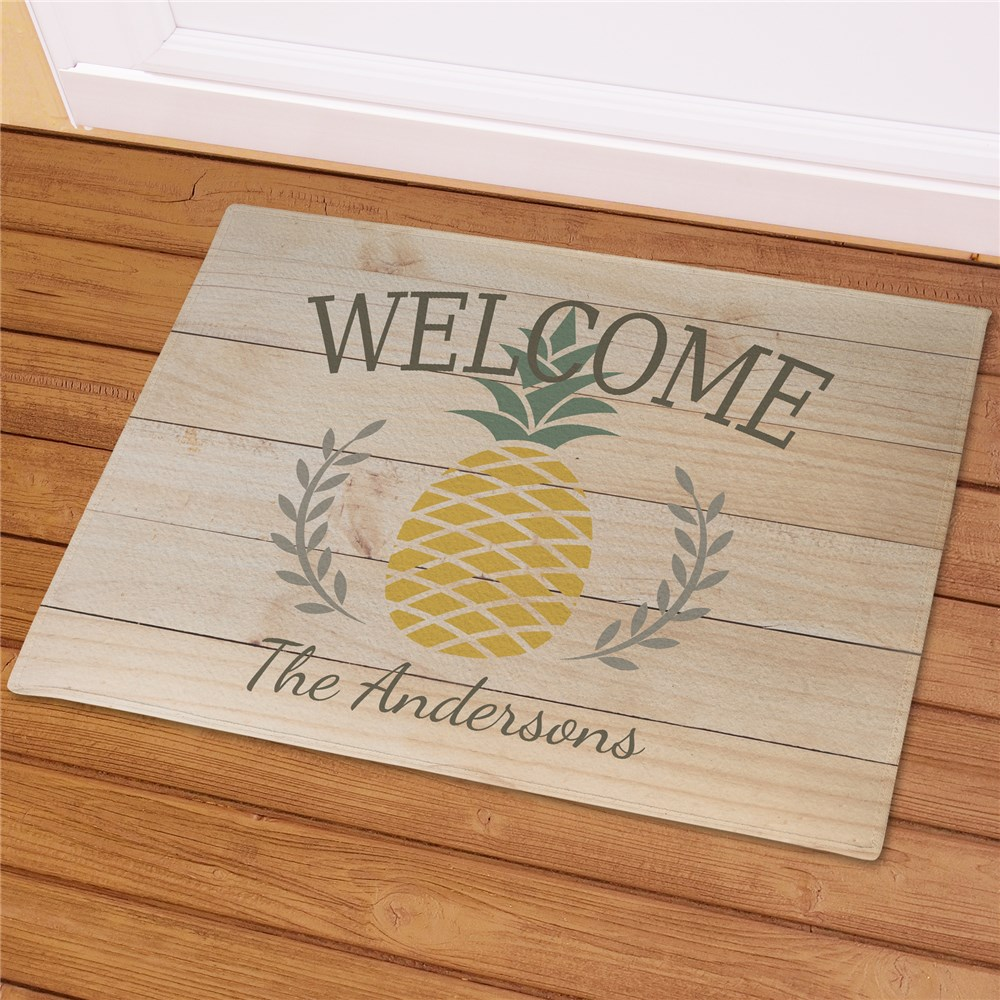 Personalized Family Pineapple Doormat | Personalized Welcome Mat