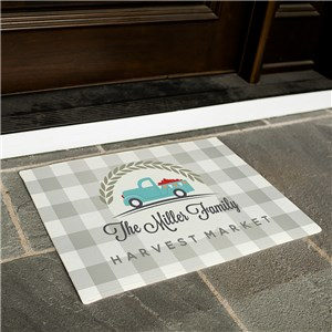 Harvest Market Personalized Doormat | Personalized Welcome Mats