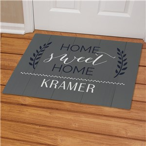 Home Sweet Home Personalized Doormat | Personalized Welcome Mat