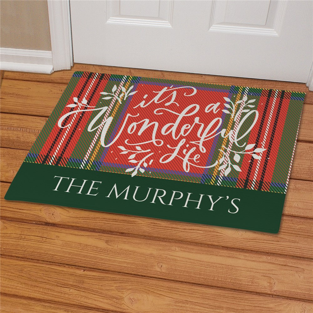 Its A Wonderful Life Personalized Doormat | Christmas Doormat