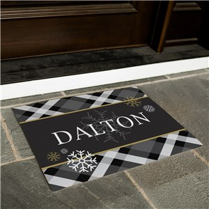 Dashing Through The Snow Personalized Doormat | Christmas Doormat