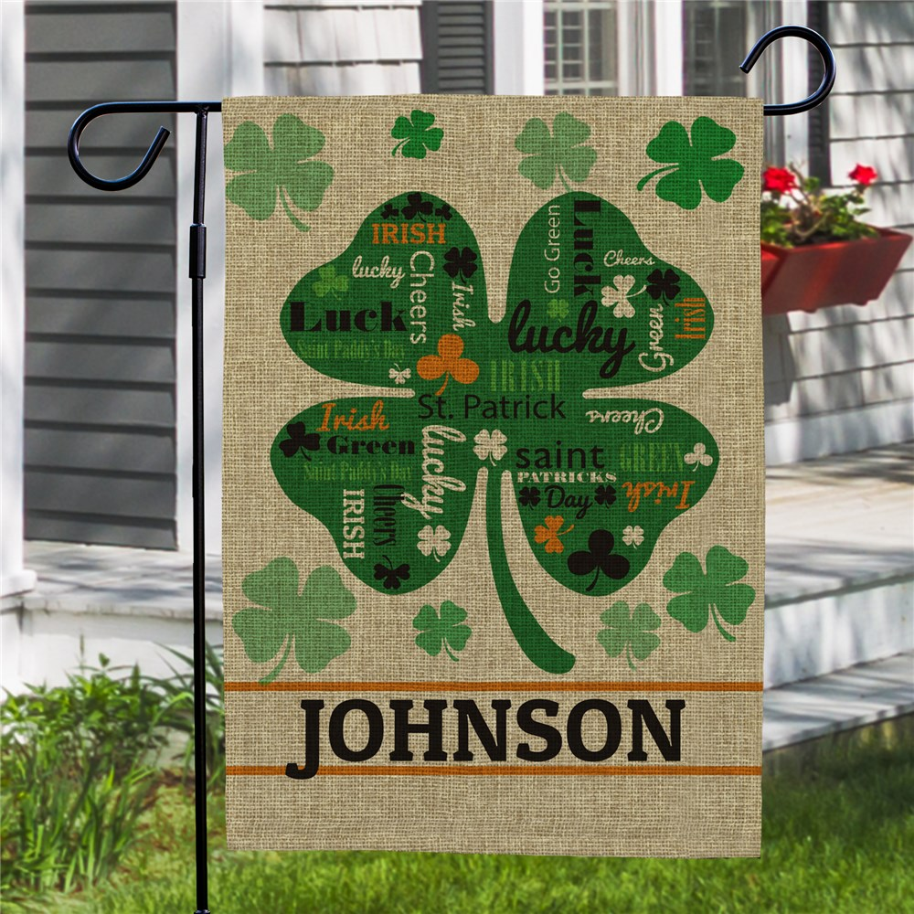 St. Patrick's Day Yard Flag | Personalized Garden Flags