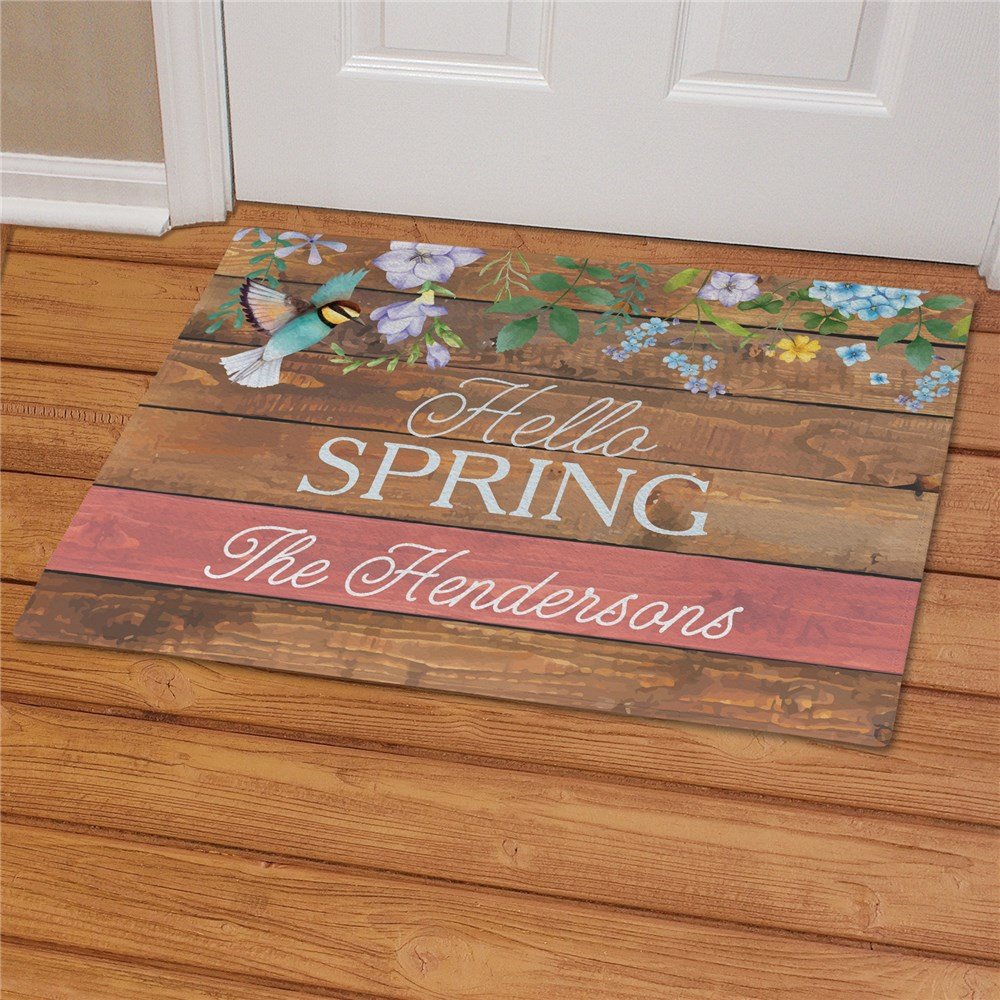 Spring Doormats | Wood Pallet Style Home Decor