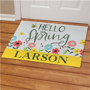 Spring Doormats | Personalized Flowers And Bees Doormat