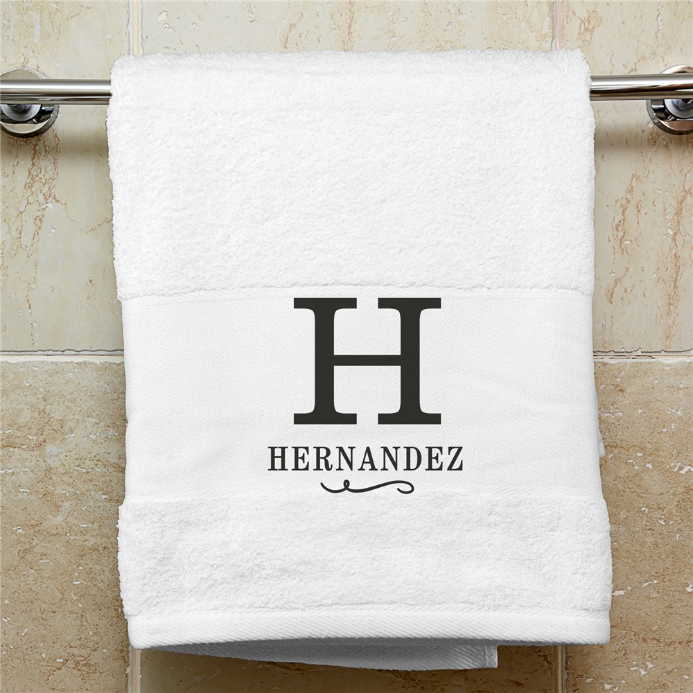 Personalized Bath Towel | Embroidered Towels With Initial