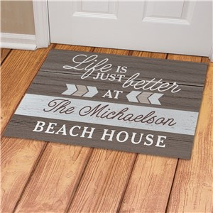 Chevron Collection Doormat | Personalized Lake House Door Mat